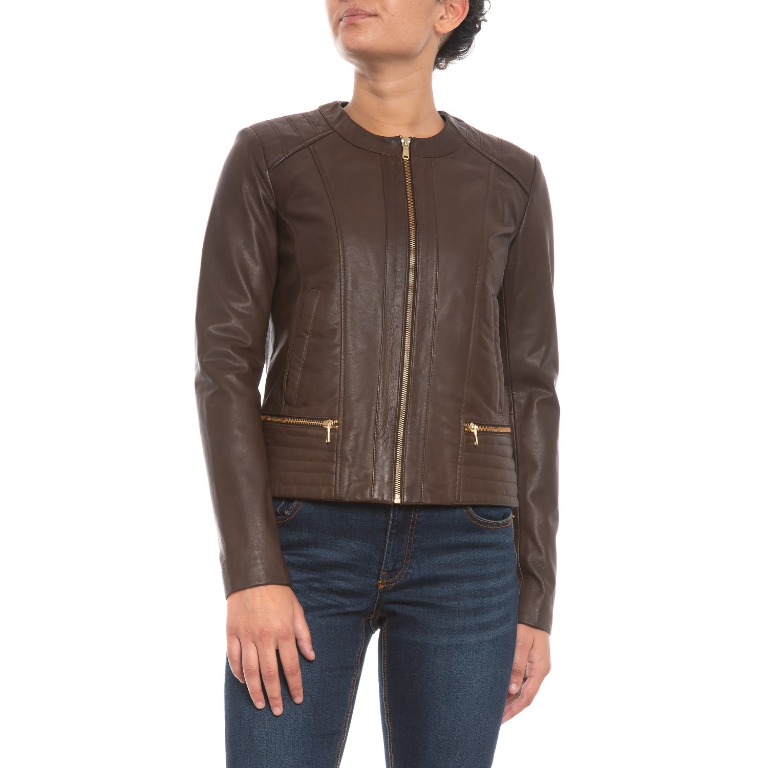 Cole Haan Lamb Leather Jacket For Women Save 62