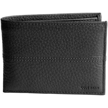 Cole Haan Leather Wallet - Removable Passcase (For Men) in Black - Closeouts