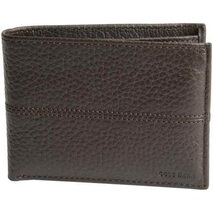 Cole Haan Leather Wallet - Removable Passcase (For Men) in Chocolate - Closeouts