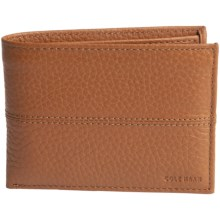 Cole Haan Leather Wallet - Removable Passcase (For Men) in Cognac - Closeouts