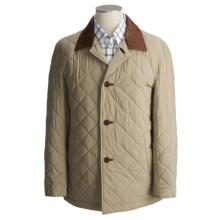 Cole Haan Lightweight Quilted Jacket - Leather Trim (For Men) in Putty - Closeouts