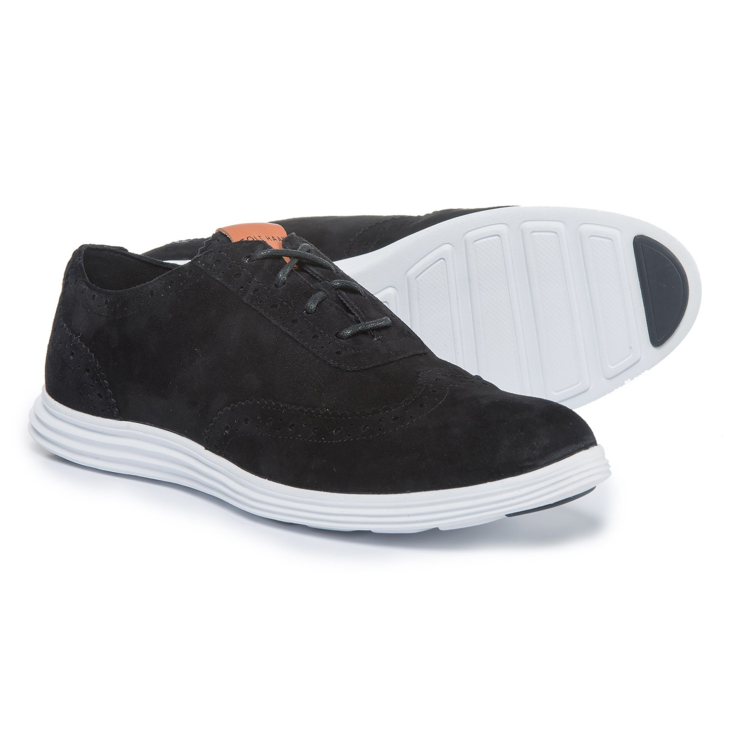 Cole Haan Misha Grand Oxford II Sneakers - Suede (For Women) in Black/