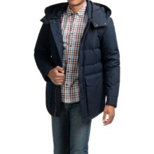 Cole Haan Mixed Media Hooded Down Jacket (For Men) in Navy - Closeouts
