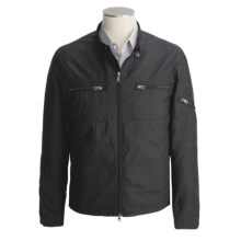 Cole Haan Moto Jacket - Lightweight (For Men) in Black - Closeouts