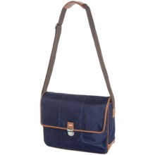 "Cole Haan Nylon Messenger Bag - 15"" in Navy - Closeouts"