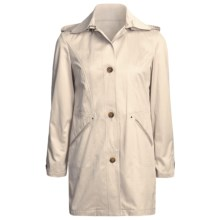 Cole Haan Outerwear Car Coat - Zip-Off Hood (For Women) in Beige - Closeouts