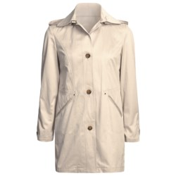 Cole Haan Outerwear Car Coat - Zip-Off Hood (For Women) in Beige