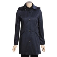 Cole Haan Outerwear Car Coat - Zip-Off Hood (For Women) in Navy - Closeouts