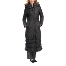Cole Haan Outerwear Classic Long Down Coat (For Women) in Black - Closeouts