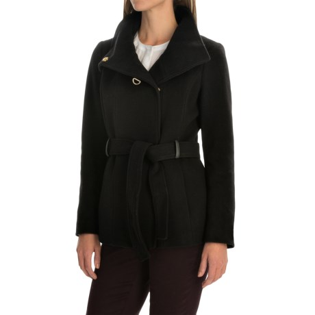 Cole Haan Outerwear Double-Breasted Wool Coat - Belted (For Women)
