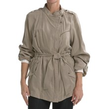 Cole Haan Outerwear Drapey Rain Trench Coat (For Women) in Tan - Closeouts