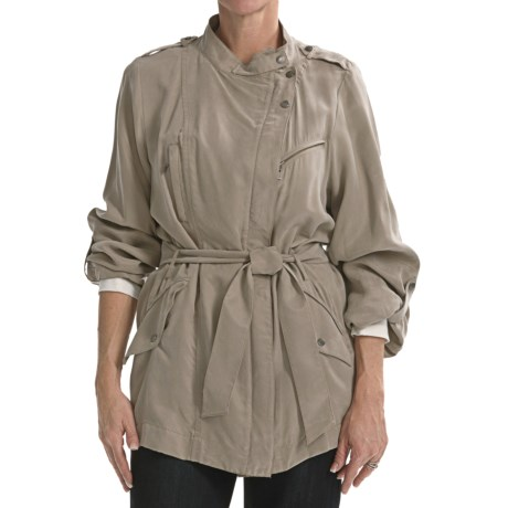 Cole Haan Outerwear Drapey Rain Trench Coat (For Women) in Tan