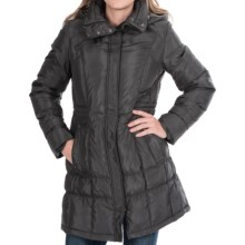 Cole Haan Outerwear Hooded Down Jacket (For Women) in Black - Closeouts