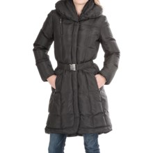 Cole Haan Outerwear Puff Down Jacket - Belted (For Women) in Black - Closeouts