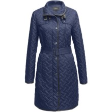 Cole Haan Outerwear Quilted Coat - (For Women) in Cobalt - Closeouts