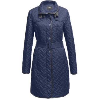 Cole Haan Outerwear Quilted Coat - (For Women) in Cobalt