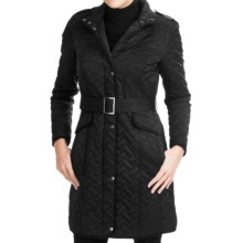 Cole Haan Outerwear Quilted Stars Jacket - Leather Trim (For Women) in Black - Closeouts