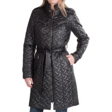 Cole Haan Outerwear Signature Quilted Coat (For Women) in Black - Closeouts