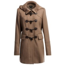 Cole Haan Outerwear Soft Italian Wool Twill Duffle Coat - Detachable Hood (For Women) in Camel - Closeouts