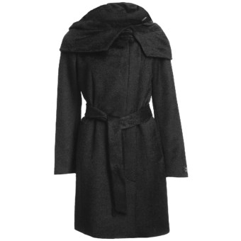 Cole Haan Outerwear Suri Alpaca Coat (For Women) in Black