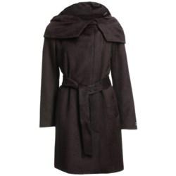 Cole Haan Outerwear Suri Alpaca Coat (For Women) in Chocolate