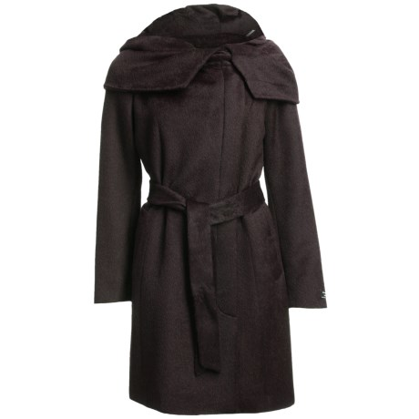 Cole Haan Outerwear Suri Alpaca Coat (For Women) in Chocolate
