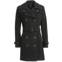 Cole Haan Outerwear Virgin Wool-Cashmere Coat (For Women) in Black - Closeouts