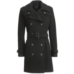 Cole Haan Outerwear Virgin Wool-Cashmere Coat (For Women) in Black