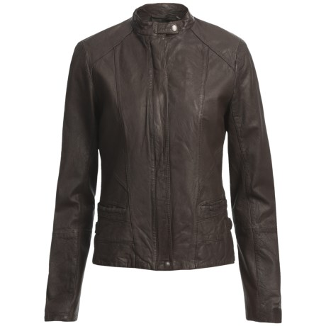 Cole Haan Outerwear Washed Lamb Moto Jacket (For Women)