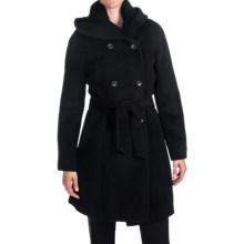 Cole Haan Outerwear Wide Collar Trench Coat - Wool-Alpaca (For Women) in Black - Closeouts