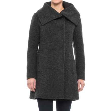 Cole Haan Oversized Collar Coat - Wool Blend (For Women) in Charcoal - Closeouts