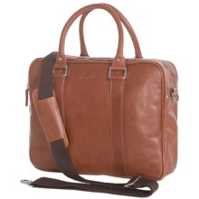 Cole Haan Pebble Leather Attache Bag in Cognac - Closeouts