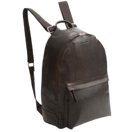 Cole Haan Pebbled Leather Backpack in Chocolate - Closeouts