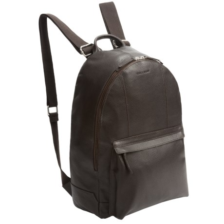 Cole Haan Pebbled Leather Backpack in Chocolate