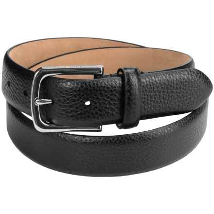 Cole Haan Pebbled Leather Belt (For Men) in Black - Closeouts
