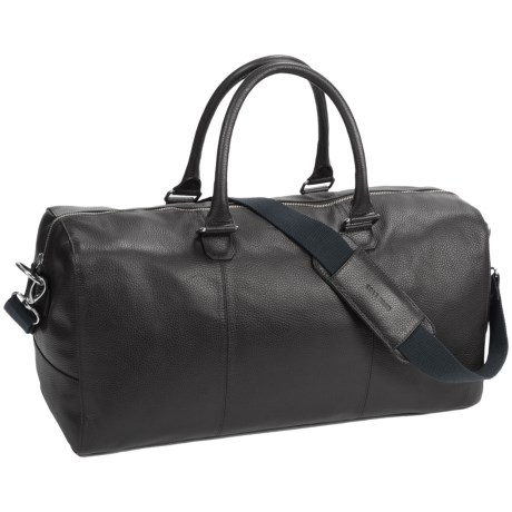 Cole Haan Pebbled Leather Duffel Bag in Black