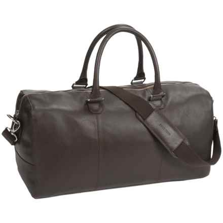 Cole Haan Pebbled Leather Duffel Bag in Chocolate - Closeouts