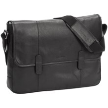 Cole Haan Pebbled Leather Messenger Bag in Black - Closeouts