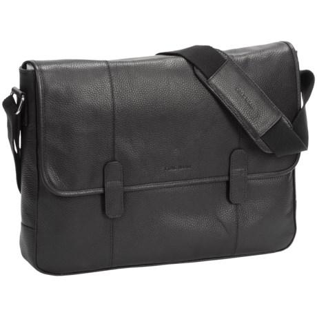 Cole Haan Pebbled Leather Messenger Bag in Black