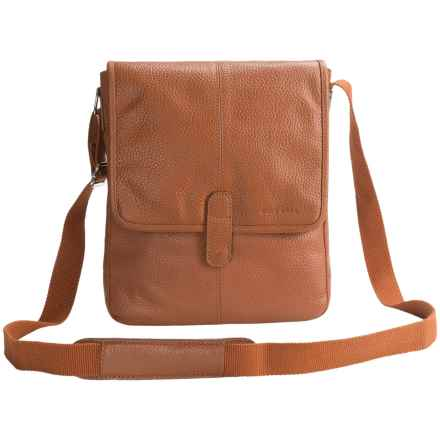 Cole Haan Pebbled Leather Reporter Bag in Tan - Closeouts