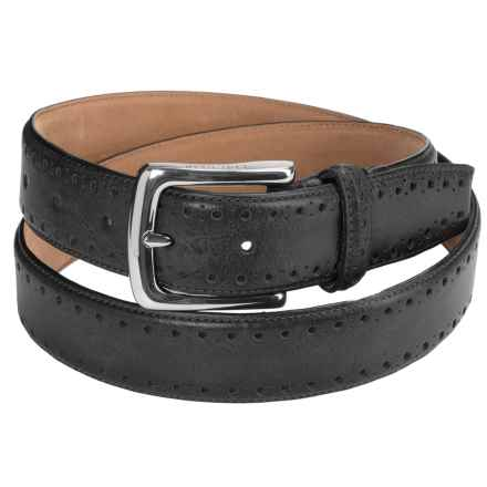 Cole Haan Perforated 35mm Leather Belt (For Men) in Black - Closeouts