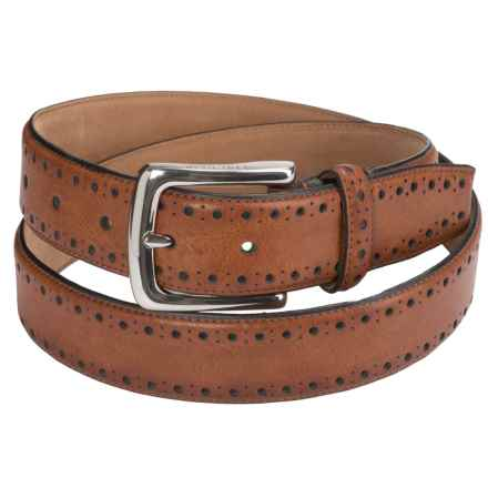 Cole Haan Perforated 35mm Leather Belt (For Men) in Tan - Closeouts