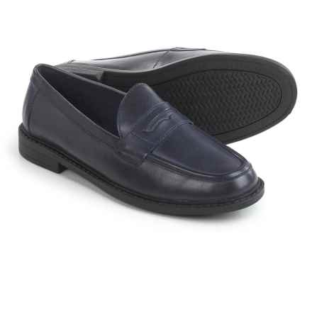 Cole Haan Pinch Campus Penny Loafers - Leather (For Women) in Blue Houndstooth - Closeouts
