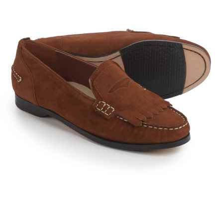 Cole Haan Pinch Grand Penny Kiltie Loafers - Suede (For Women) in Tan Suede - Closeouts