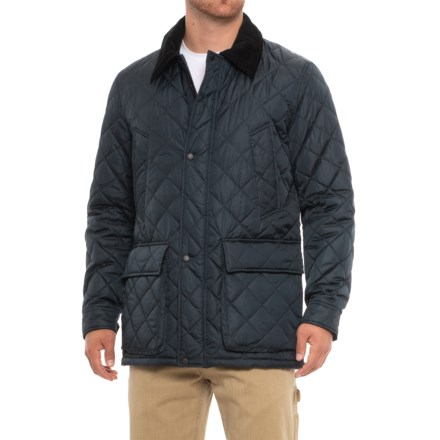 Cole Haan Quilted Barn Jacket (For Men) in Navy - Closeouts 663996306d8