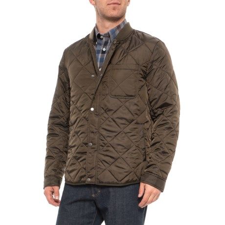 Cole Haan Mens Quilted Jacket (Olive)