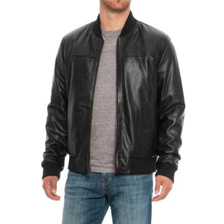 Cole Haan Reversible Leather Jacket (For Men) in Black/Navy - Closeouts