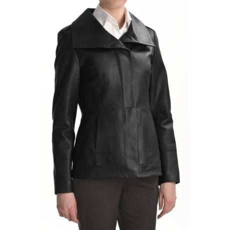 Cole Haan Scuba Jacket - Lambskin Leather (For Women) in Black