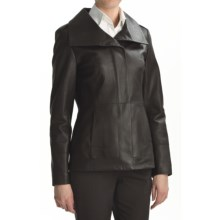 Cole Haan Scuba Jacket - Lambskin Leather (For Women) in Chocolate - Closeouts