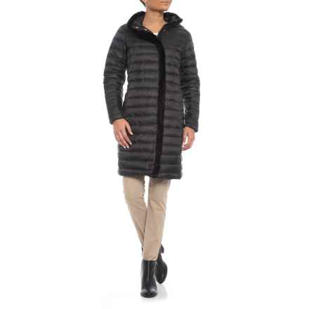 Cole Haan Signature Faux-Fur-Lined Long Down Coat (For Women) in Black - Closeouts